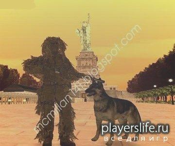 Собака немецкой овчарки для GTA SAN ANDREAS [Собака из COD 4]