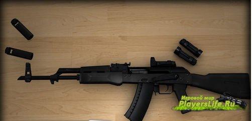 Новая AK 74M с прицелом Кобра на анимации для CSS