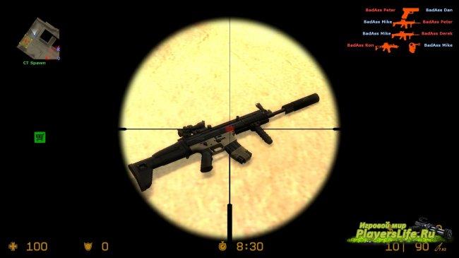 Модель M4A1 SCAR-L Acog Sight для CS Source