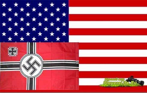 Флаги фашистов и США для DoD Source