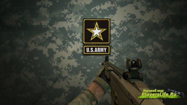 Перчатки армейской США Армии для cs source