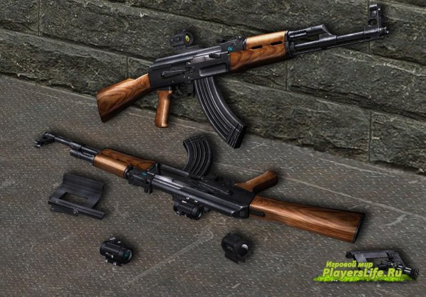 Снайперская модель АК-47 для cs source