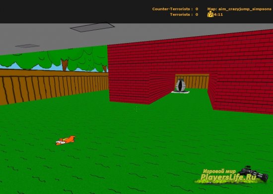 Карта aim_crazyjump_simpsons для CS Source