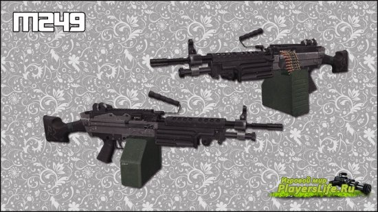 Реалистичная модель чечни M249 для CS Source
