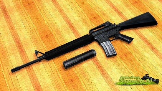 Модель оружия M16A4 для CSS