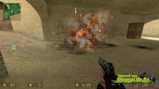 Устрашающий взрыв гранаты для CSS