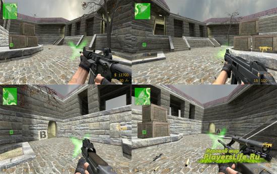 Зеленые световые вспышки выстрелов из оружия для CSS