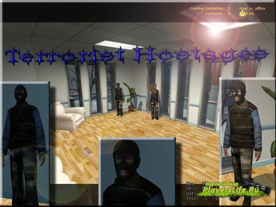 Модель заложников в роли террористов для CSS