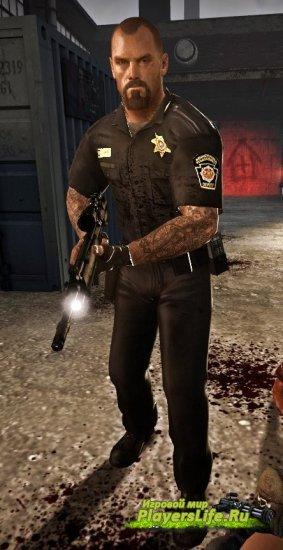 Модель Фрэнсиса в роли офицера для Left 4 Dead 2