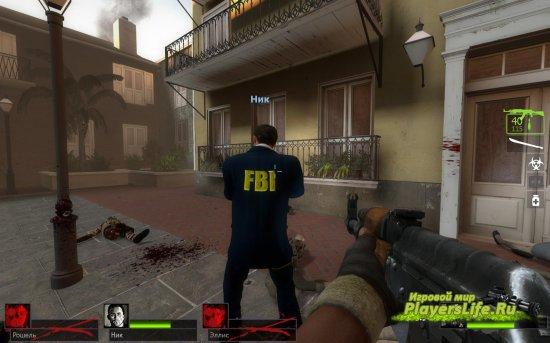 Модель Ника в форме FBI для Left 4 dead 2