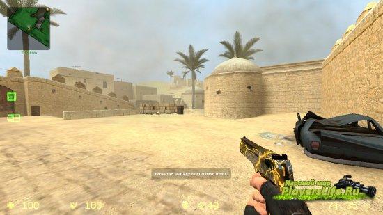 Модель оружия Desert DEAGLE со стразами