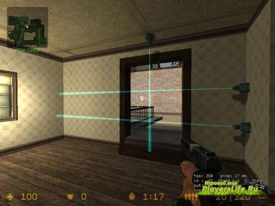 Плагин позволяет расставлять лазерные мины на сервере для Sourcemod - Tripmines