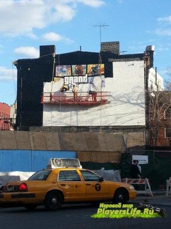 GTA 5 теперь и на экранах домов города Манхэттэн