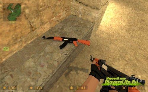 Нарисованный АК-47 как в мультяшках для CS:S