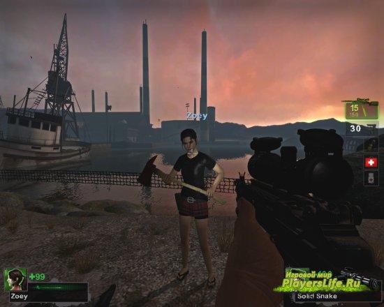 Зоя с короткой юбкой для Left 4 Dead 2