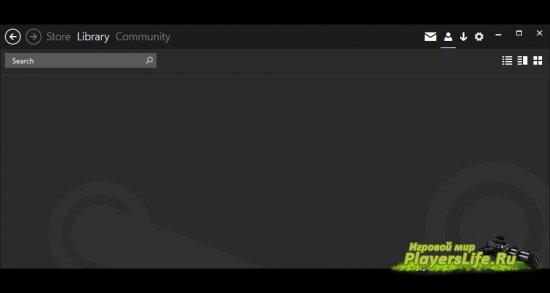 Интерфейс пользователя для Steam от Windows 8