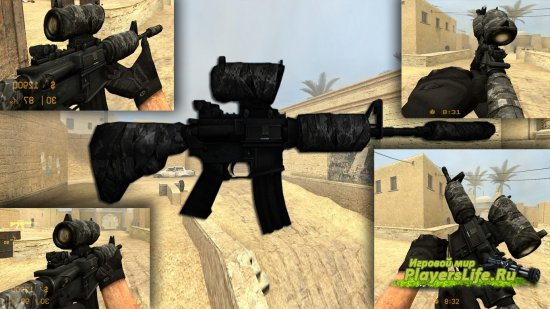 M4a1 Commando для Counter-Strike: Source