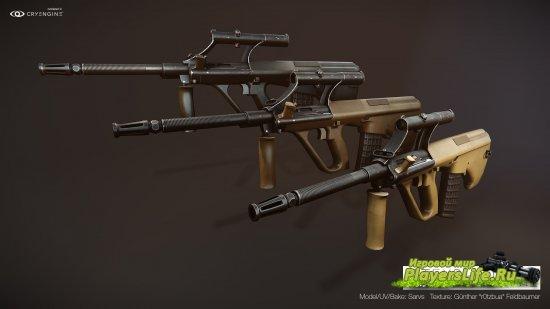 Модель оружия Sarvs's Aug для Counter-Strike: Source