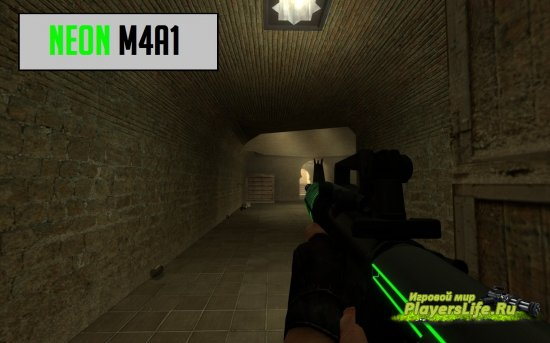 M4A1 Неон для Counter-Strike: Source