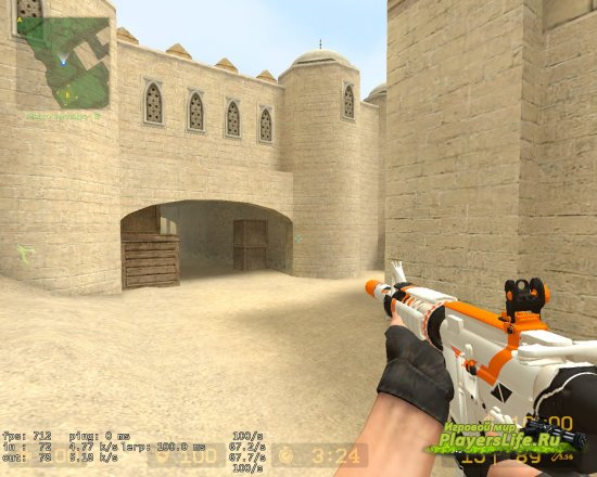 M4A1 АЗИМОВ для Counter-Strike: Source