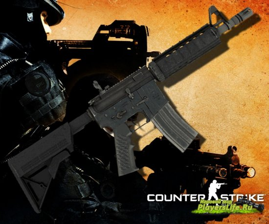 M4A1 из CS:GO для Counter-Strike: Source