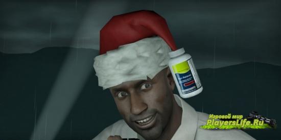 Луис с рождественской шапкой для Left 4 Dead 2
