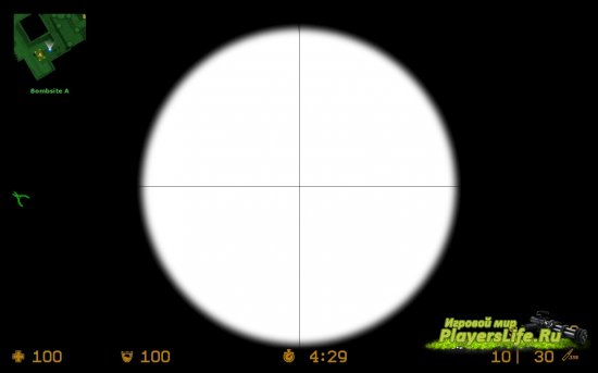 Чистый оптический прицел для Counter-Strike: Source