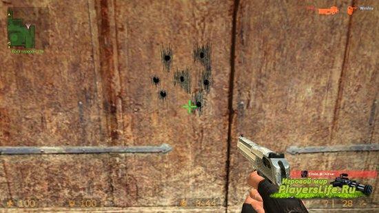 Воздействие пуль на дерево в HD (Counter-Strike: Source)