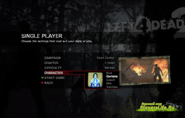 Кортана из Halo 4 для Left 4 Dead 2: http://www.playerslife.ru/3471-kortana-iz-halo-4-dlya-left-4-dead-2.html