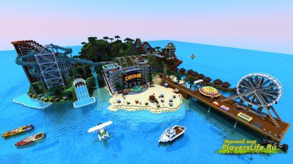 Карта города Olann Island для Minecraft