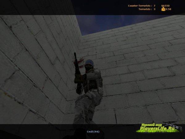 Зимний камуфляж (GIGN) для Counter-Strike: Source
