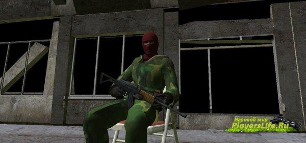 Модель террориста в камуфляже для Counter-Strike: Source