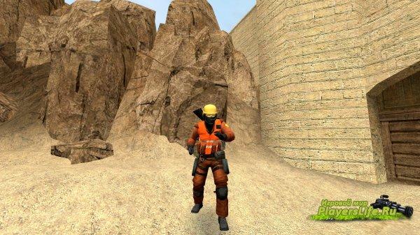 Скин строителя для Counter-Strike: Source