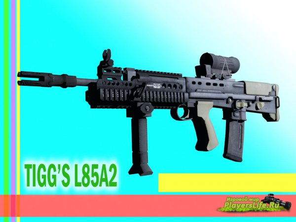 Модель оружия Tigg's L85A2 on ImBrokeRu's animation для CSS