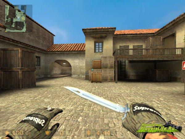 Штык-нож (bayonet) из CS:GO для CS:S