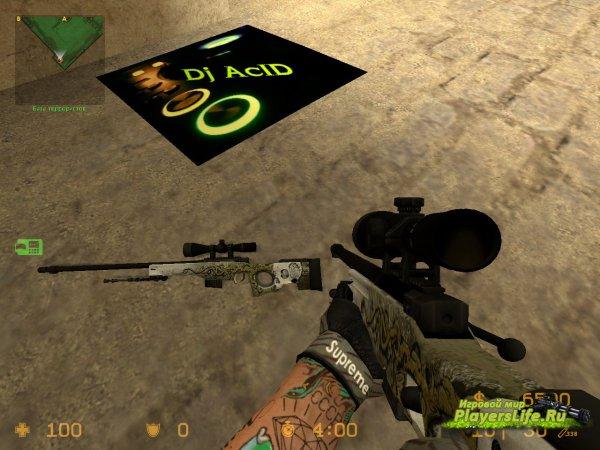 AWP Бог Червей для CS:S из CS:GO