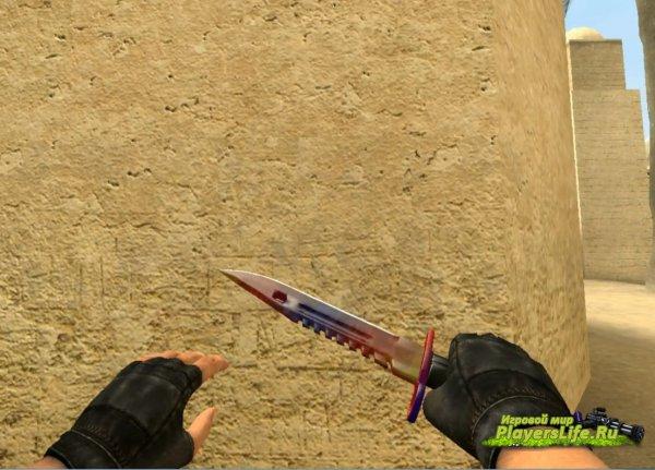 Knife_m9_bay (мраморный градиент) all version (CS:Source)