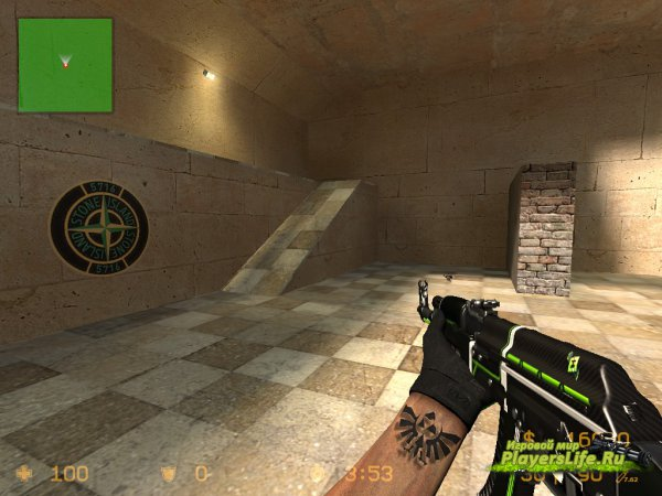 Ak47 Green Line для Counter-Strike: Source