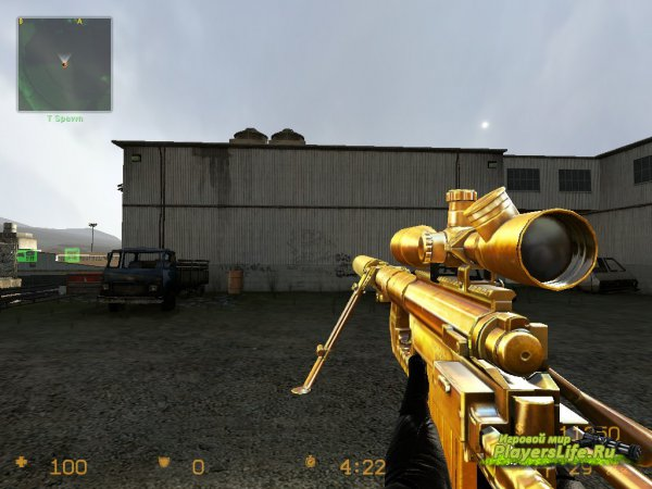 Золотая модель AWP из CF для Counter-Strike: Source