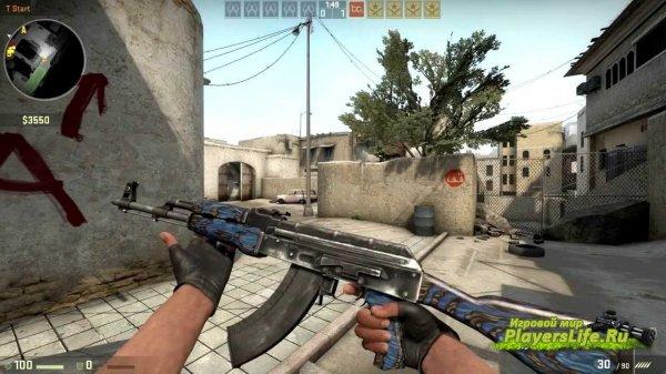 АК - 47  Красный, Синий Ламинат (Глянец) для CS:S