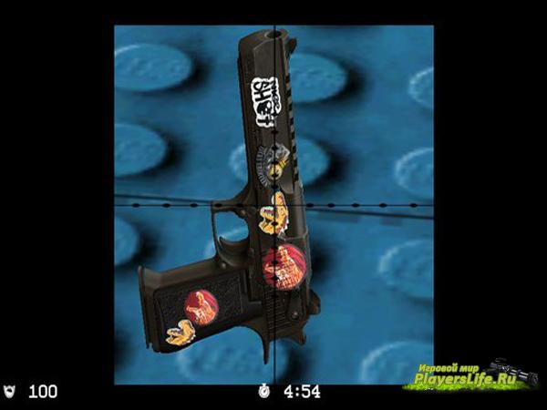Deagle из CS GO со стикерами для CS:S