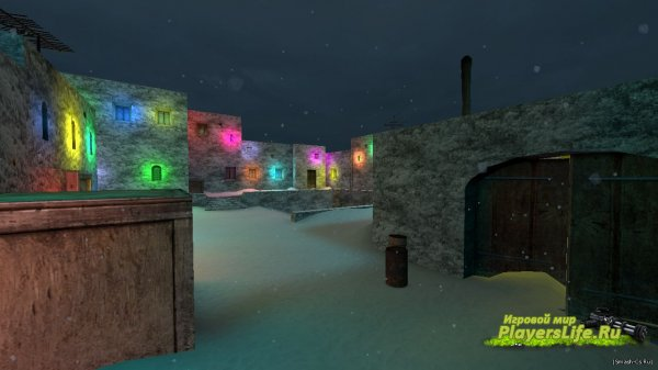 Карта de_dust2_snow_winter для CS:S