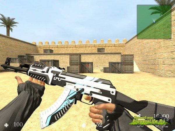 AK-47 Vulcan + Анимация осмотра для CS:S