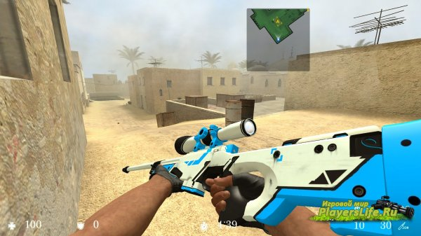Asiimov Blue � ��������� ������� ��� Counter-Strike: Source