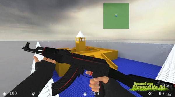 AK-47 Redline с анимацией осмотра для CS:S