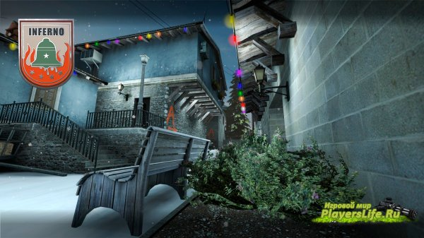 Карта de_inferno_winternight для CS:GO