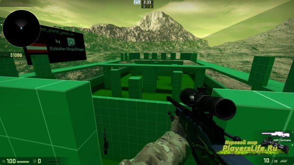 Карта awp_planet_green_v2 для CS:GO