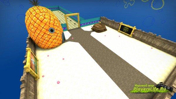 Карта bhop_spongebob_csgo для CS:GO