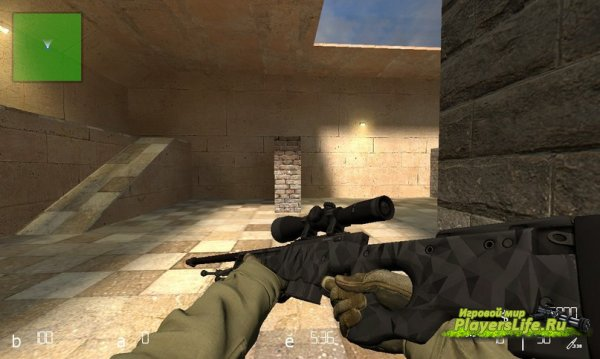 AWP Графит для CSS (Counter-Strike:Source)