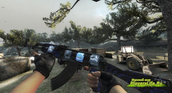 AK-47 | Blue Laminate (Counter-Strike:Source)